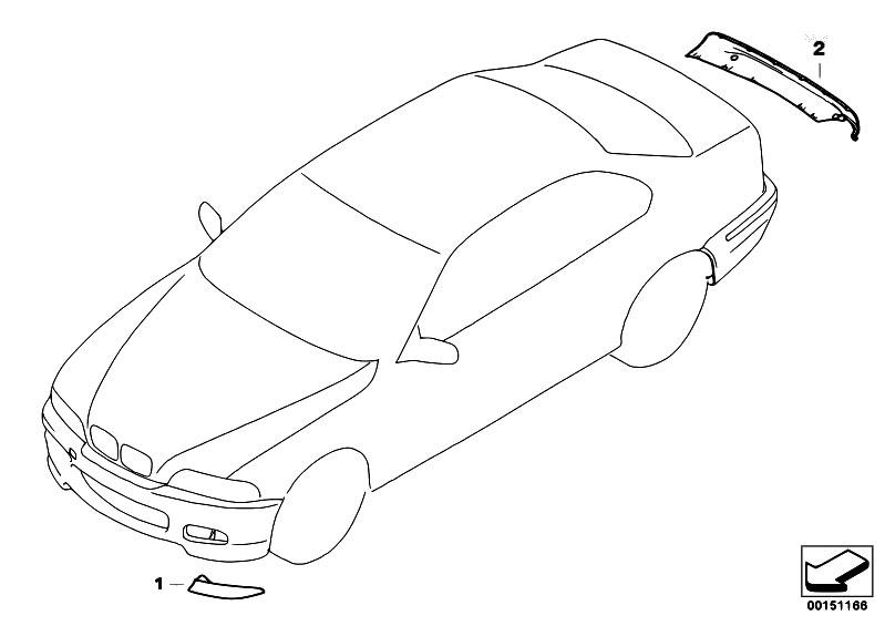 Original Parts for E46 316i N46 Sedan / Vehicle Trim