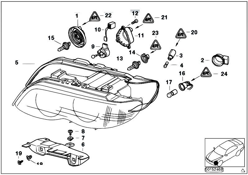 Original Parts for E53 X5 3.0d M57 SAV / Lighting