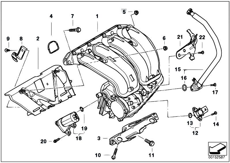 Original Parts for E93 320i N46N Cabrio / Engine/ Intake