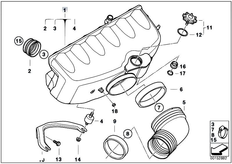 Original Parts for E46 M3 S54 Coupe / Engine/ Intake