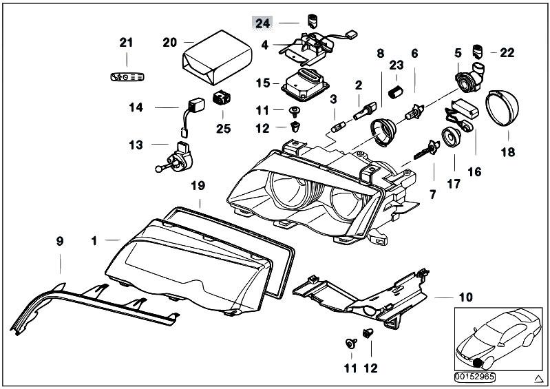 Original Parts for E46 316Ci M43 Coupe / Lighting/ Indiv