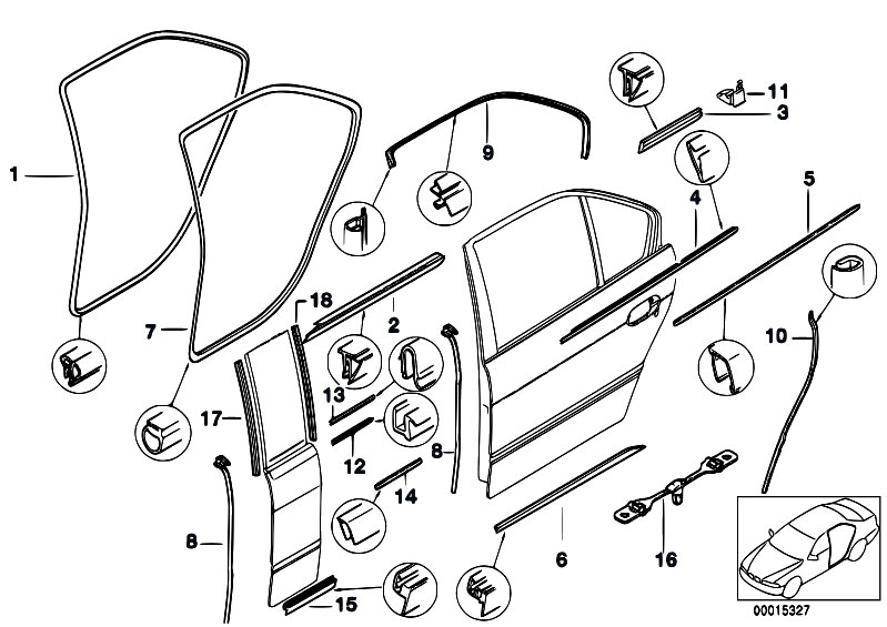 Original Parts for E39 520d M47 Sedan / Bodywork/ Door