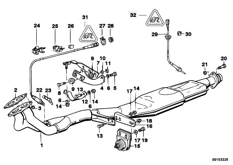 Original Parts for E30 318i M40 2 doors / Exhaust System