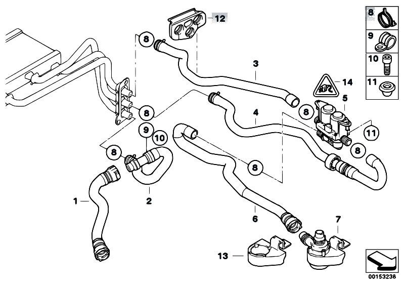 Original Parts for E60 530i M54 Sedan / Heater And Air