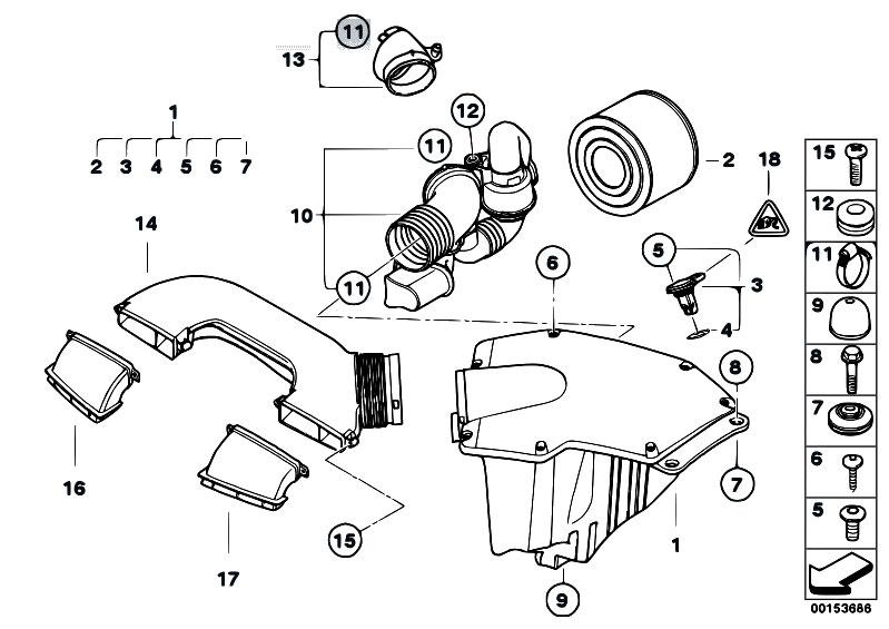 Original Parts for E87 130i N52 5 doors / Fuel Preparation
