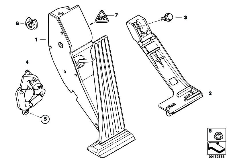 Original Parts for E46 316i N42 Sedan / Pedals