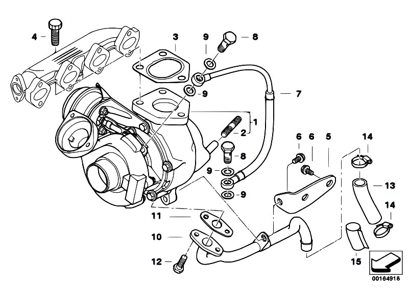 Original Parts for E46 320d M47 Touring / Engine/ Turbo