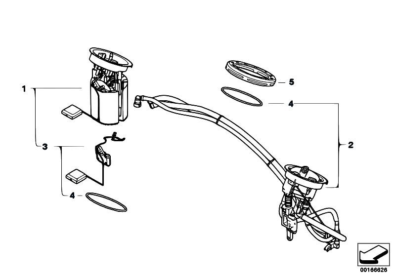 Original Parts for E90 330d M57N2 Sedan / Fuel Supply
