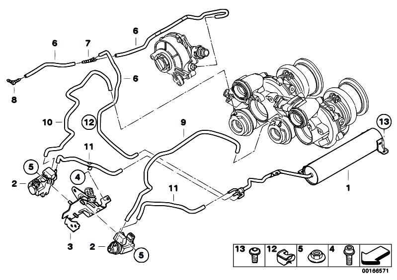 Original Parts for E71 X6 50iX N63 SAC / Engine/ Vacum