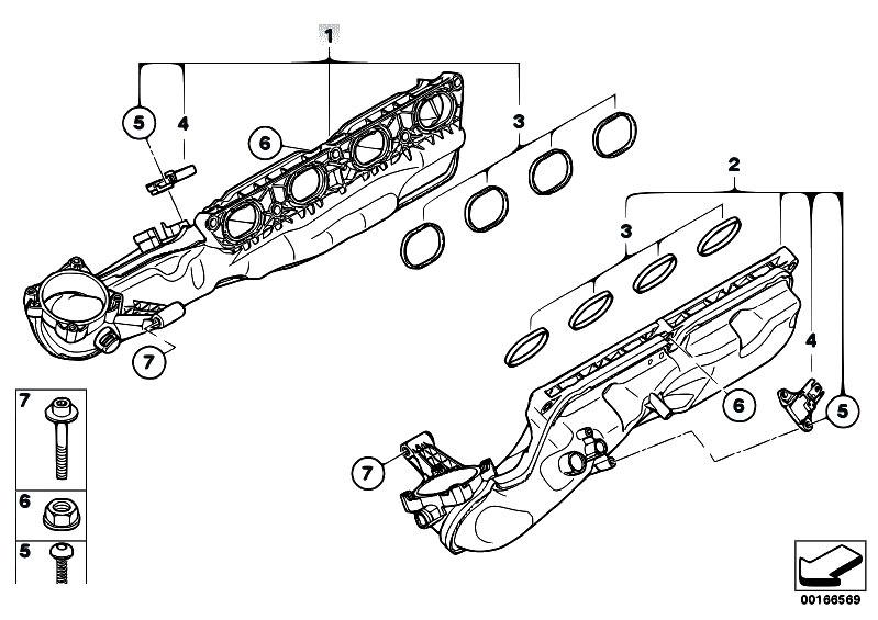 Original Parts for F02 750Li N63 Sedan / Engine/ Intake