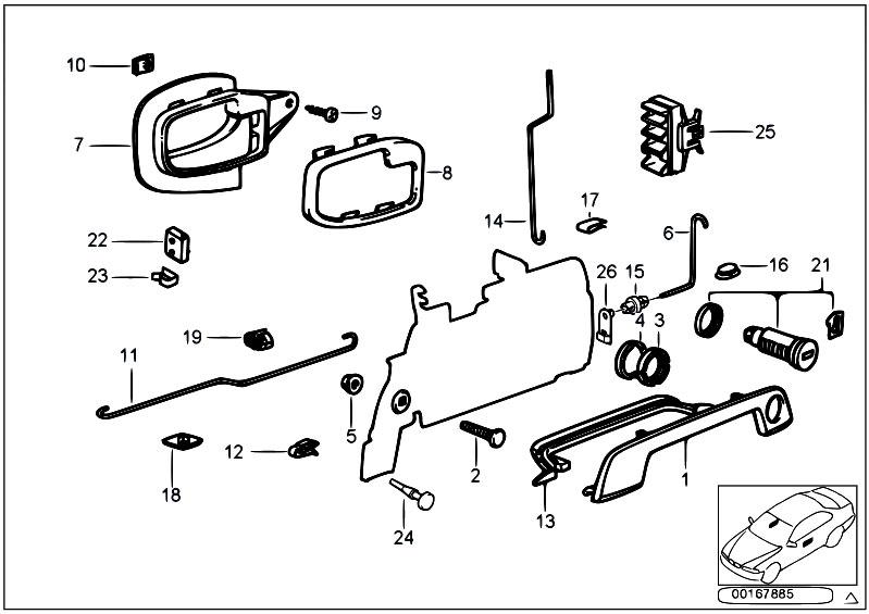 Original Parts for Z3 Z3 2.0 M52 Roadster / Bodywork/ Door