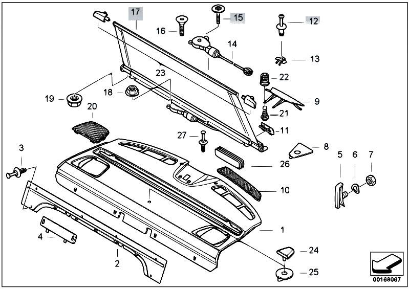 Bmw E39 Rear Window Parts Diagram. Bmw. Auto Wiring Diagram
