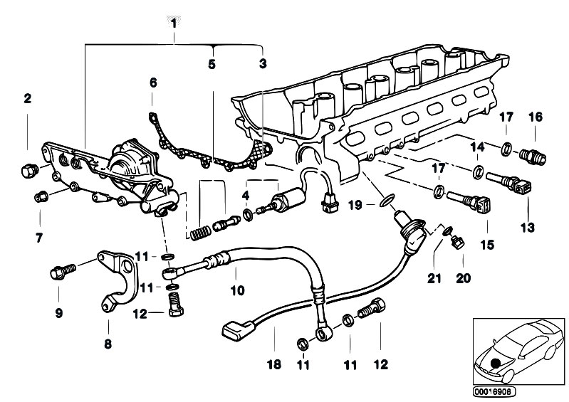 Original Parts for E34 520i M50 Touring / Engine/ Cylinder