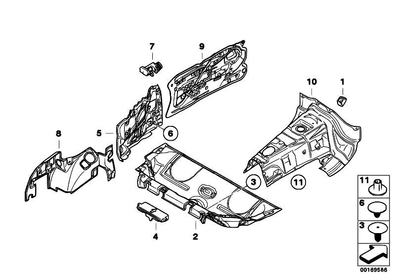 Original Parts for E88 135i N54 Cabrio / Vehicle Trim