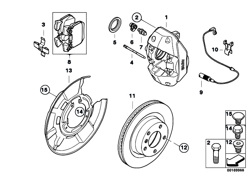 Original Parts for E91N 325i N53 Touring / Brakes/ Bmw