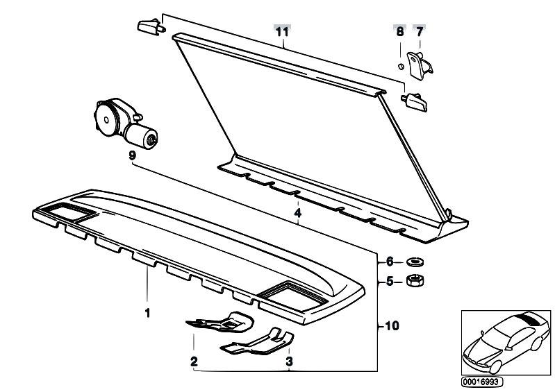 Original Parts for E34 525i M50 Sedan / Vehicle Trim/ Rear