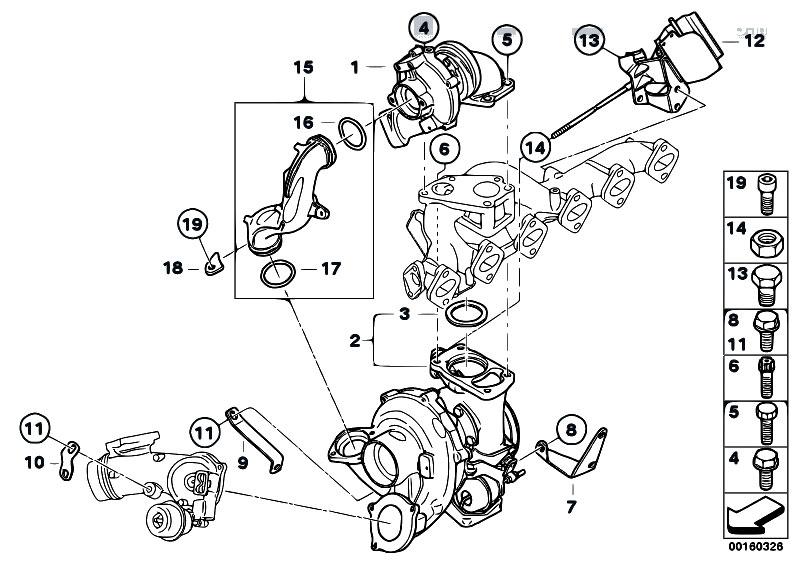 Original Parts for E92 335d M57N2 Coupe / Engine/ Turbo