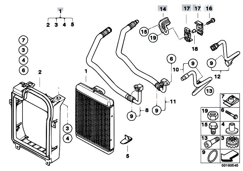 Original Parts for E70 X5 4.8i N62N SAV / Radiator/ Engine