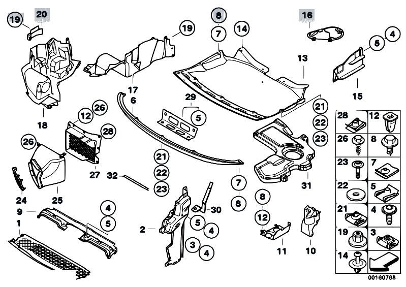 Original Parts for E68 Hydrogen 7 N73 Sedan / Vehicle Trim