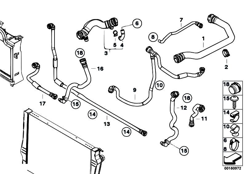 Original Parts for E71 X6 35dX M57N2 SAC / Radiator