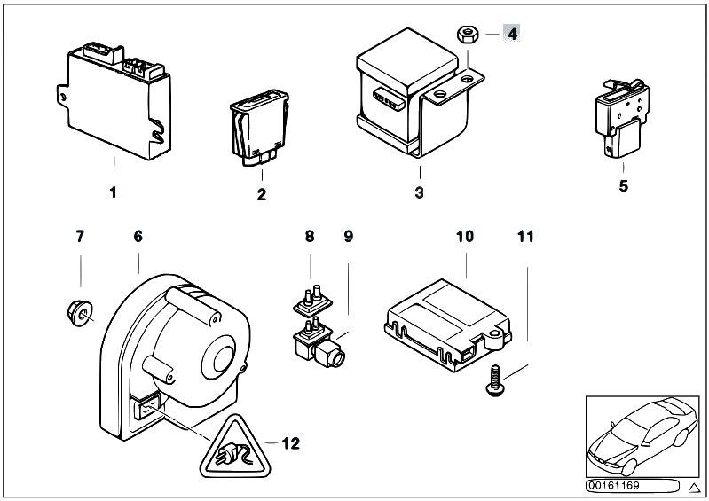 Original Parts for Z3 Z3 1.9 M44 Roadster / Audio