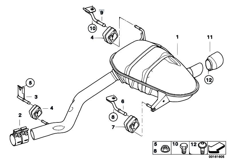 Original Parts for E81 118i N43 3 doors / Exhaust System