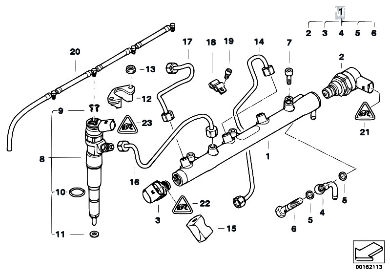 Original Parts for E60N 520d M47N2 Sedan / Fuel
