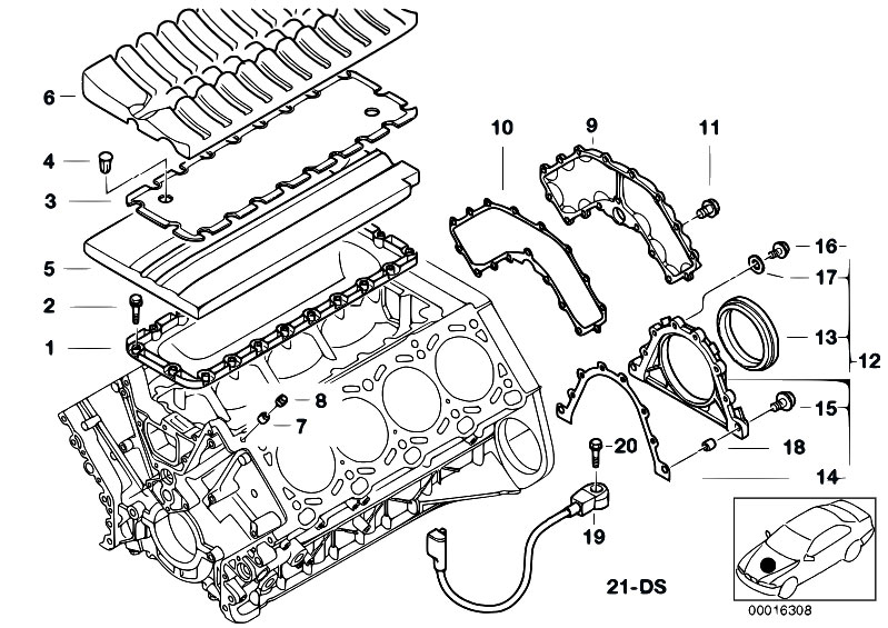 Original Parts for E38 740iLP M62 Sedan / Engine/ Engine