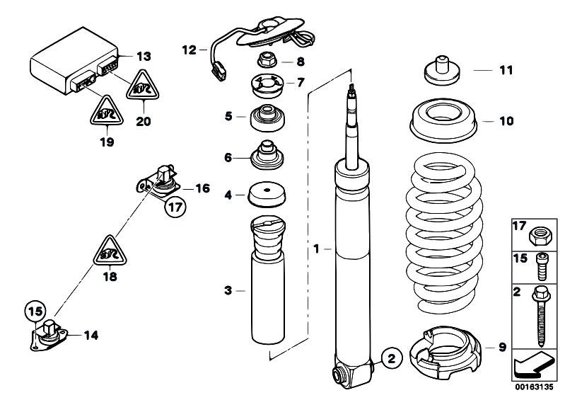 Original Parts for E92 M3 S65 Coupe / Rear Axle/ Rear