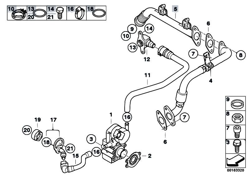 Original Parts for E91N 325i N53 Touring / Engine/ Intake