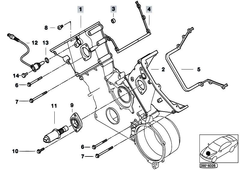 Original Parts for E53 X5 4.6is M62 SAV / Engine/ Upper