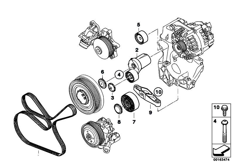 Original Parts for E81 116d N47 3 doors / Engine/ Belt