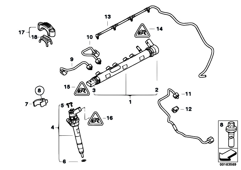 Original Parts for E91 318d N47 Touring / Fuel Preparation