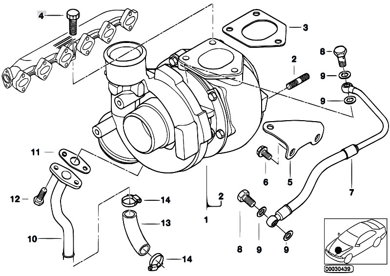 Original Parts for E46 330d M57 Touring / Engine/ Turbo