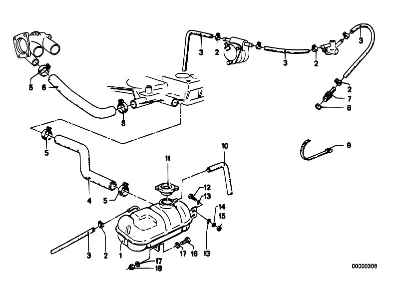 Original Parts for E12 535i M30 Sedan / Engine/ Expansion