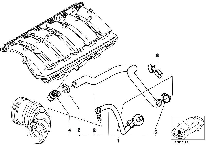 Original Parts for E38 728i M52 Sedan / Engine/ Vacuum