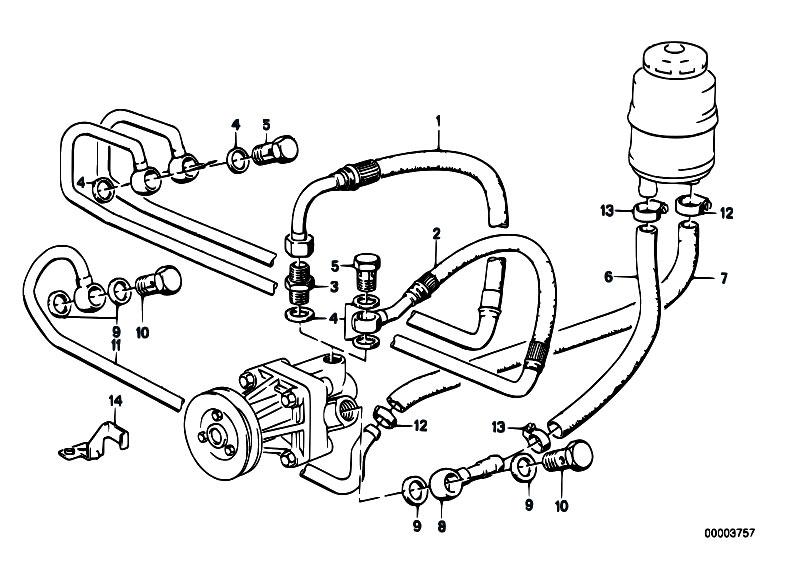Original Parts for E30 325i M20 2 doors / Steering/ Hydro