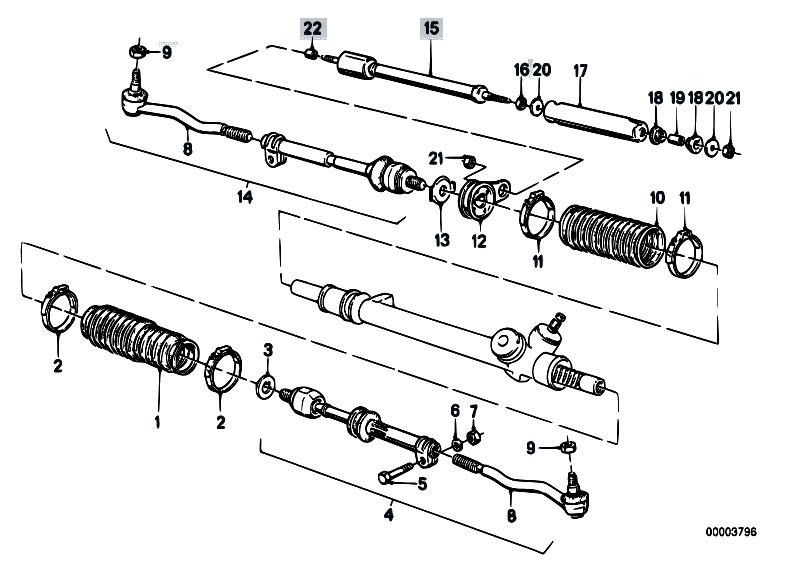 Original Parts for E30 316i M40 2 doors / Steering