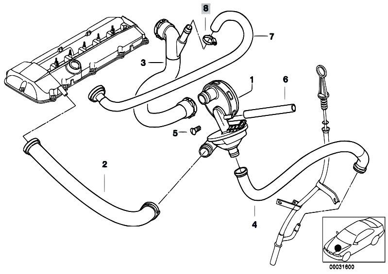 Original Parts for E60 530i M54 Sedan / Engine/ Crankcase