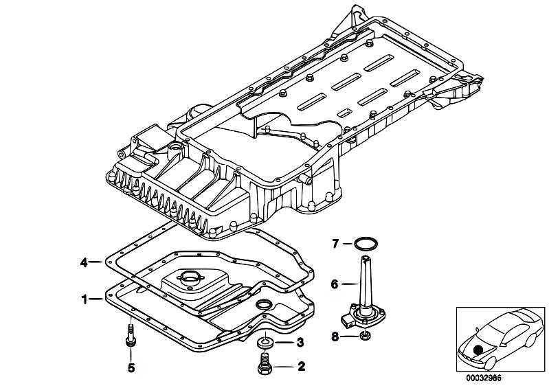 Original Parts for E38 740d M67 Sedan / Engine/ Oil Pan