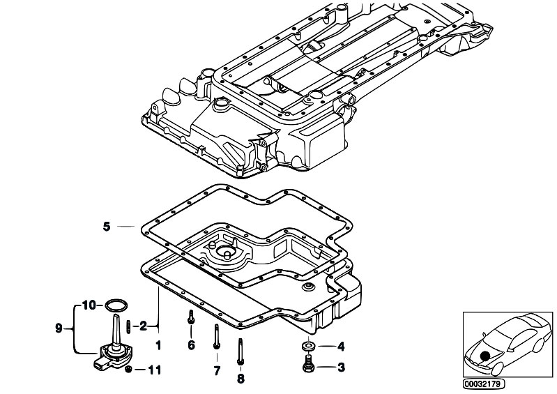 Original Parts for E39 M5 S62 Sedan / Engine/ Oil Pan