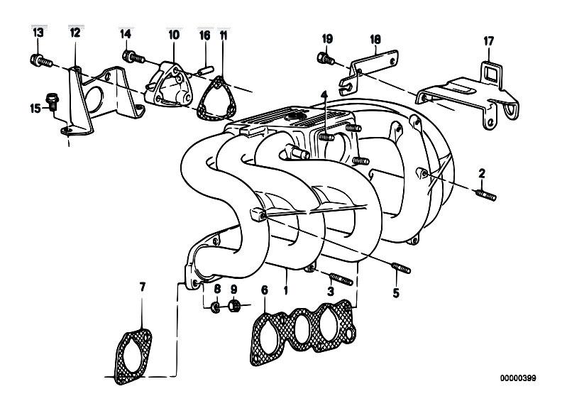 Original Parts for E34 525i M20 Sedan / Engine/ Intake