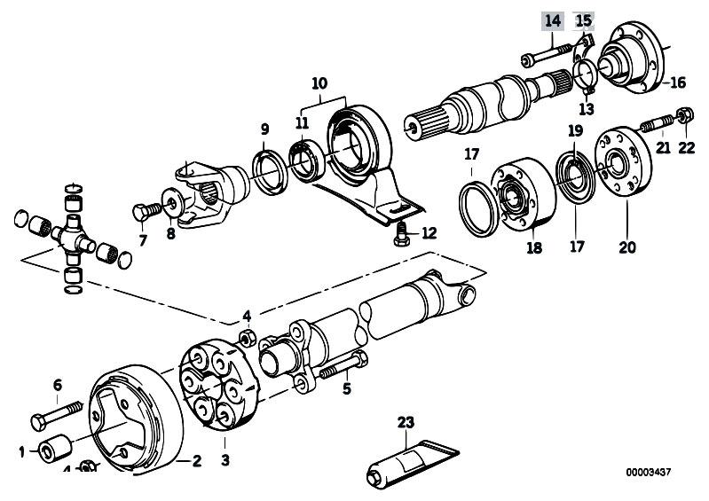 Original Parts for E30 318i M40 Cabrio / Drive Shaft
