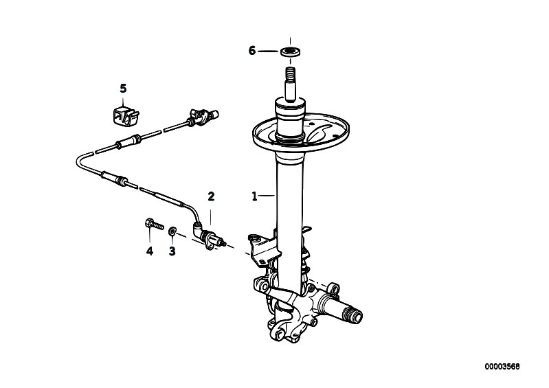 Original Parts for E32 750iLS M70 Sedan / Front Axle