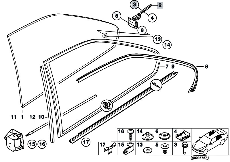 Original Parts for E36 318is M42 Coupe / Vehicle Trim