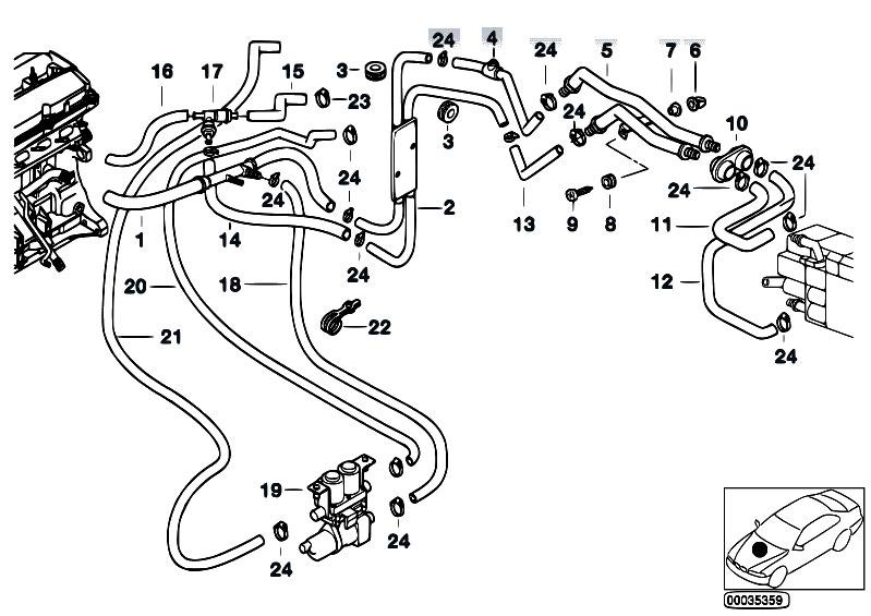 Original Parts for E39 520d M47 Sedan / Heater And Air