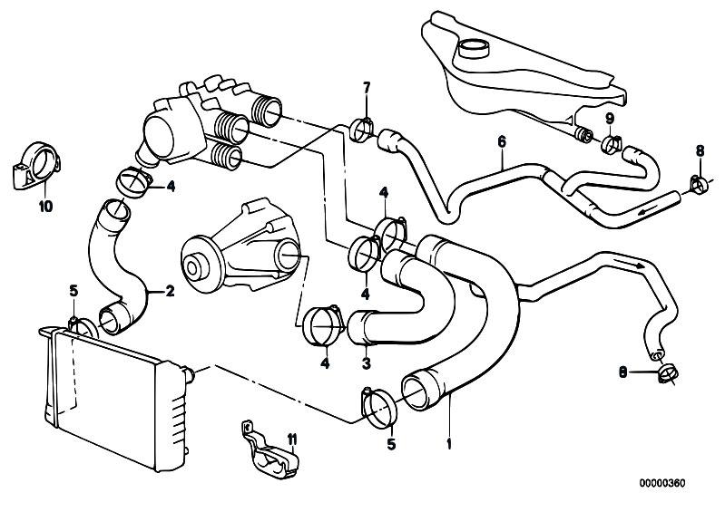 Original Parts for E34 535i M30 Sedan / Engine/ Cooling