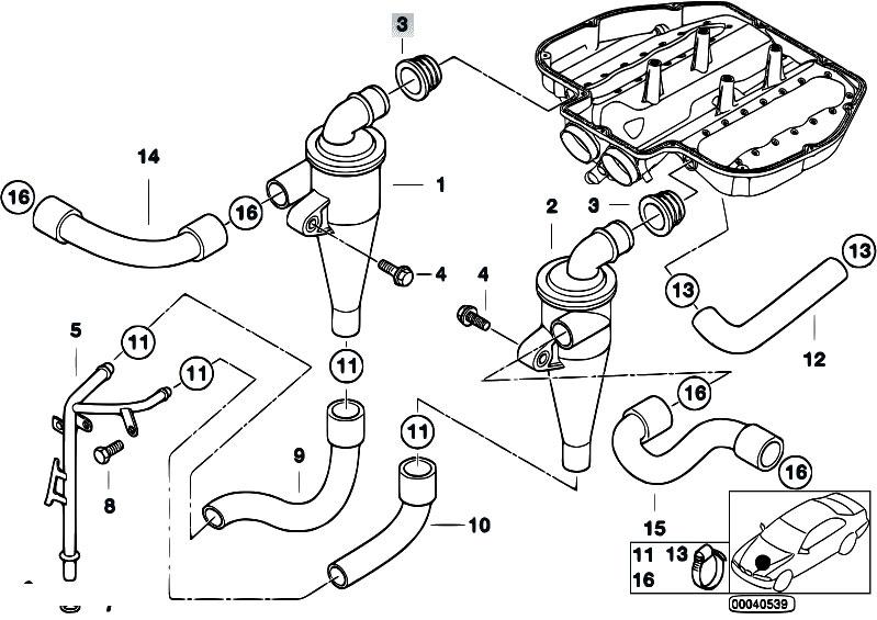Original Parts for E39 M5 S62 Sedan / Engine/ Crankcase