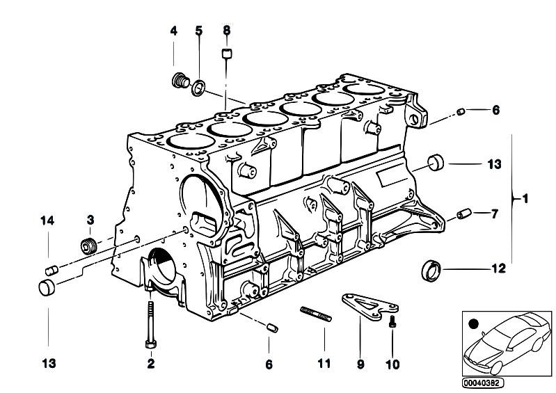 Original Parts for E39 528i M52 Sedan / Engine/ Engine