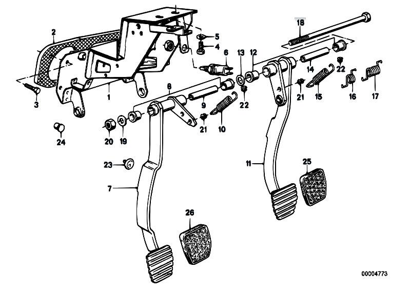 Original Parts for E30 318i M40 4 doors / Pedals/ Pedals